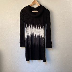 Style & Co Black and white Graphic Sweater Dress
